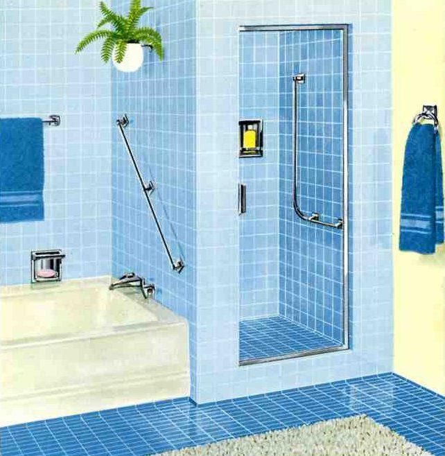 1960 39 s kitchens bathrooms more mid century mid for 1960s bathroom design