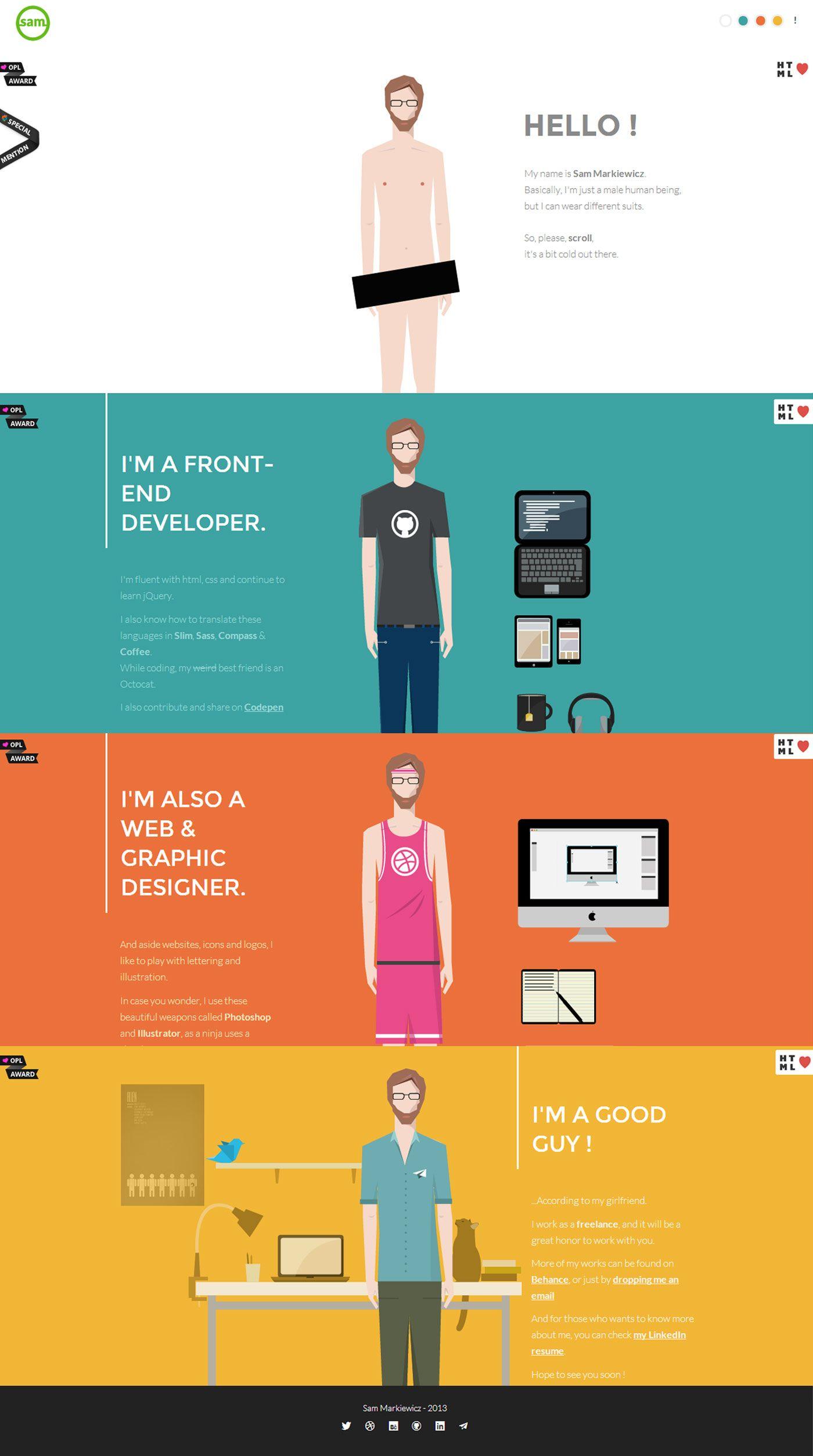 Sam Markiewicz - Flat UI Design Trends