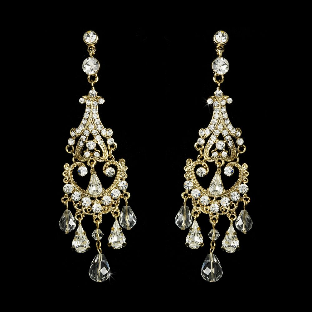 Crystal and rhinestone gold chandelier earrings gold chandelier crystal and rhinestone gold chandelier earrings arubaitofo Choice Image
