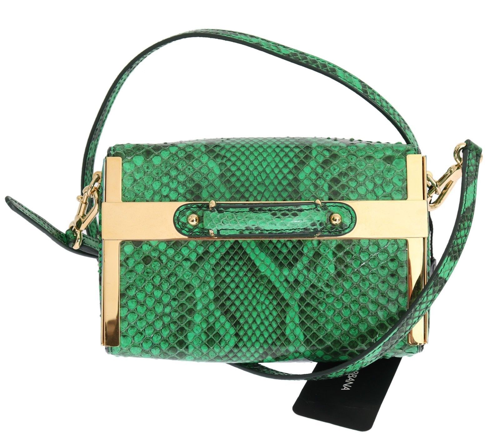 DolceGabbana  HandbagsShoulderBagsPurses Purse GILDA Green Python  Snakeskin Shoulder Handbag  fcee8888a7a2a