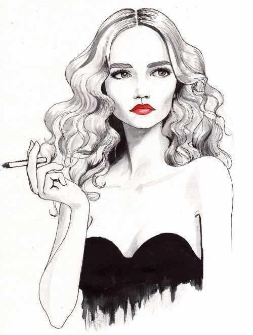 art drawing face fashion girl , بحث Google