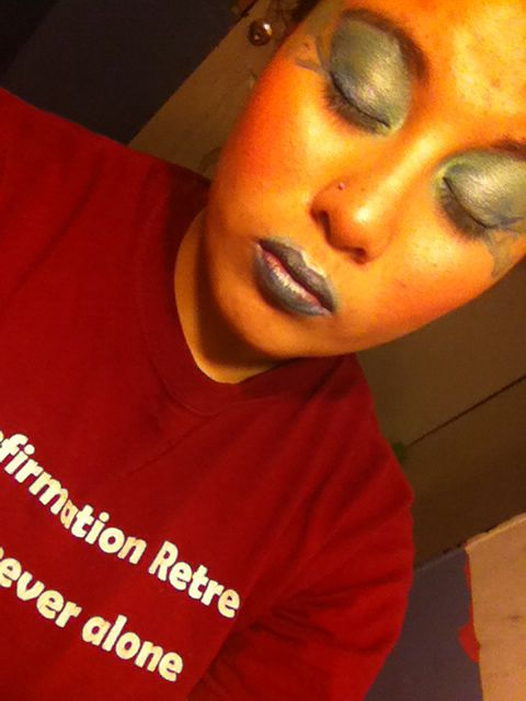 Color guard makeup inspired by how to train your dragon showcase, it was my showcase from sophomore year and I decided to do something with it... Enjoy! #colorguard