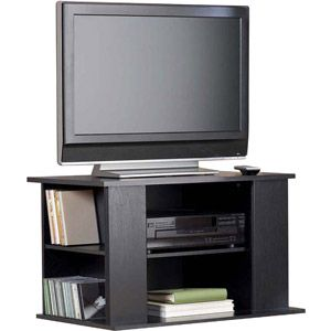 Mainstays Tv Stand With Side Storage For Tvs Up To 32 Black