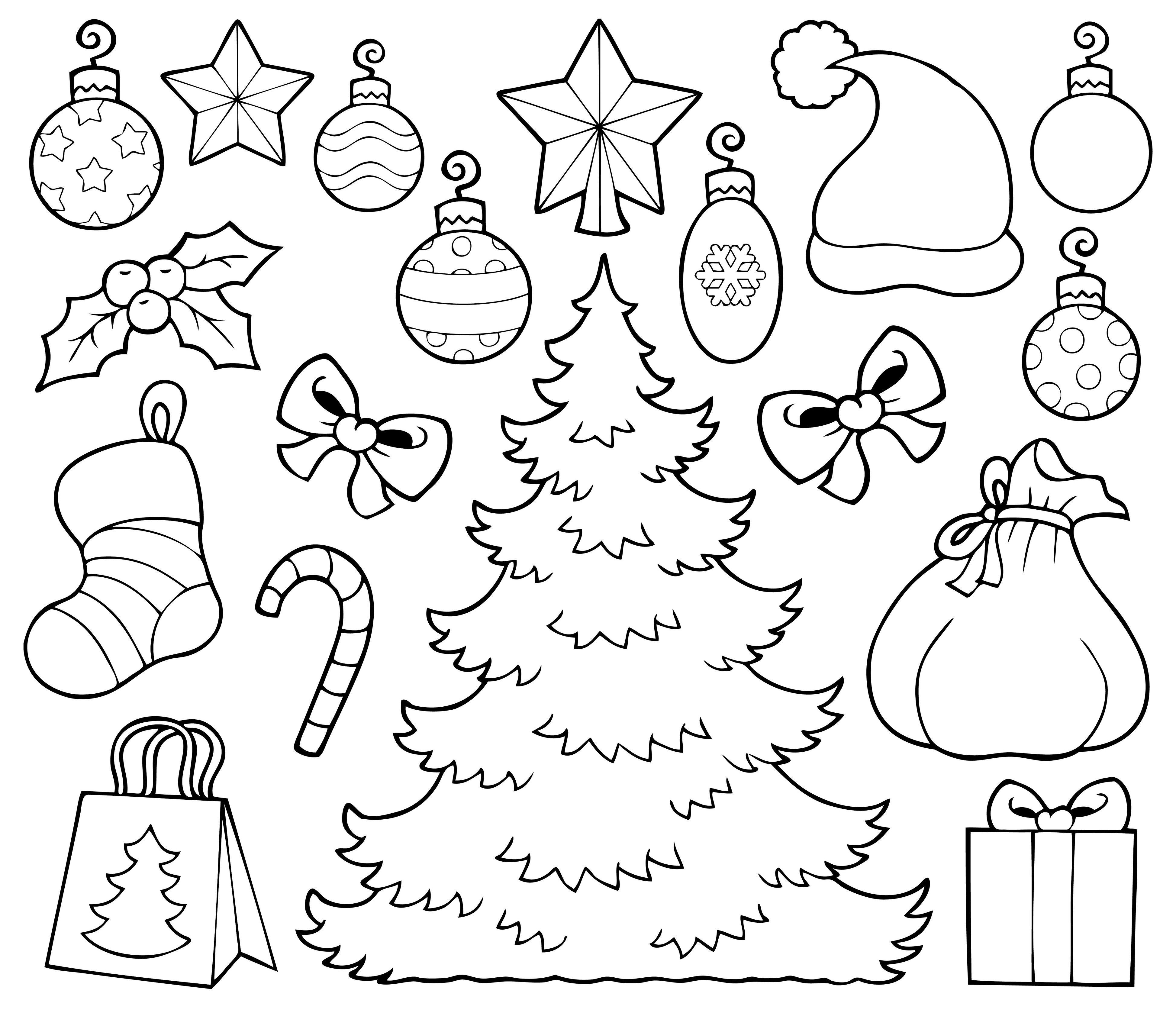 Árbol de Navidad para recortar y colorear | Navidad con