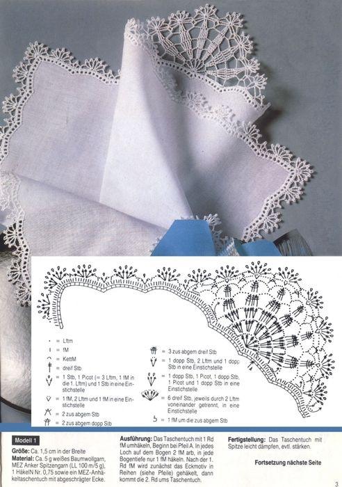 Pañuelo | Crochet | Pinterest | Ganchillo, Tejido y Orillas