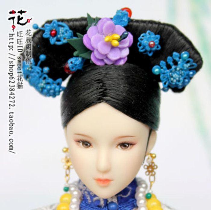 二手 OBITSU 可儿娃娃 1/6娃娃古装造型衣服首饰盘发——画框女人
