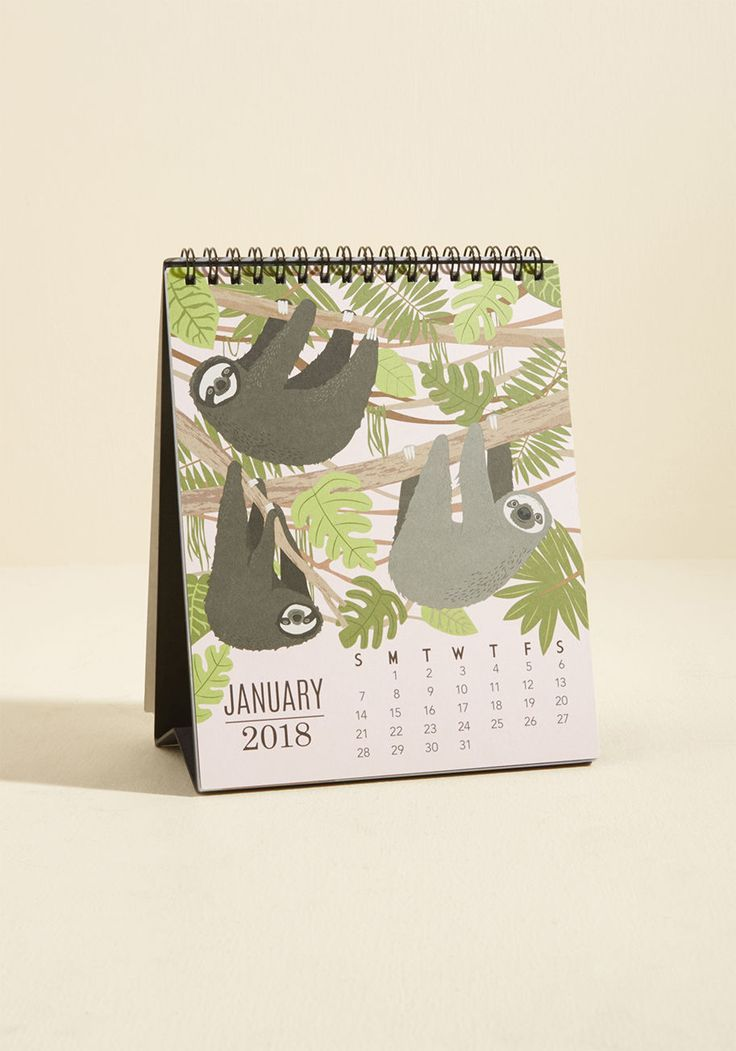 This cute sloth calendar would look great on my desk. ;) #2018 ...