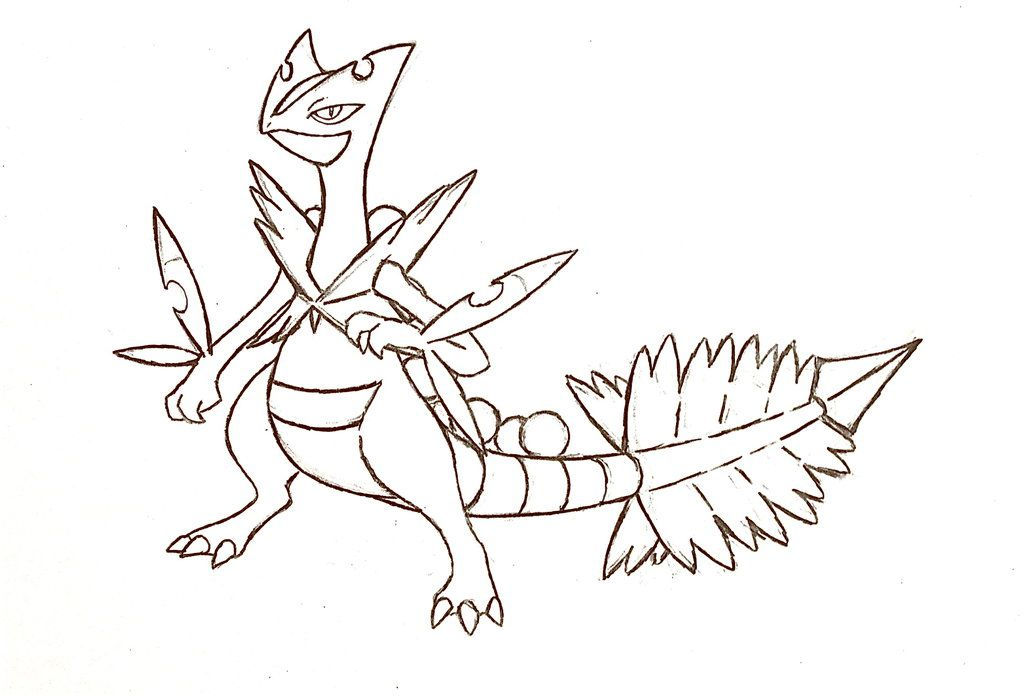 pokemon mega evolution coloring pages deviantart more like mega serperior contest entry 2 by torqupine