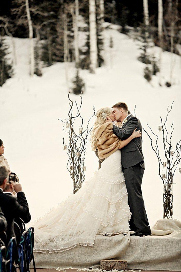 Outdoor Winter Wedding Photography: Canyons Utah Winter Wedding