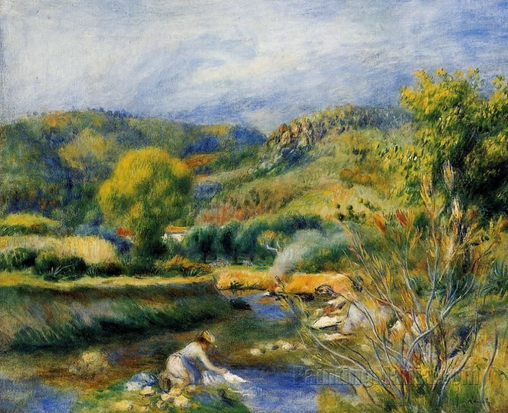 The Laundress by Pierre-Auguste Renoir circa 1891