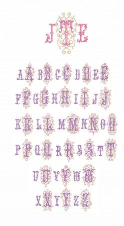 Manoir Monogram Designs by JuJu Machine Embroidery Designs