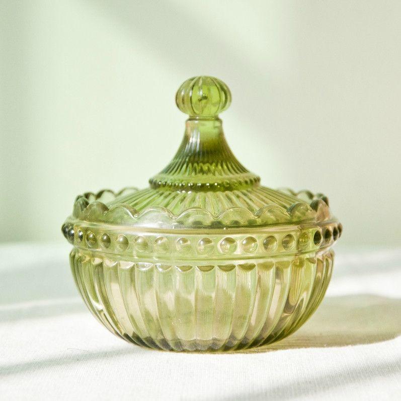 Canopy Glass Dish (Green) & Canopy Glass Dish (Green) | Apartment Accents | Pinterest | Glass ...