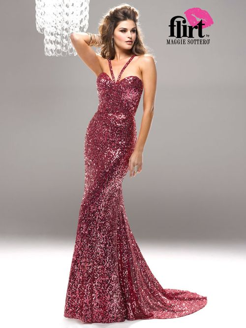9263efb2bba Passion Pink Sizzling Sequin Gown - Unique Vintage - Cocktail