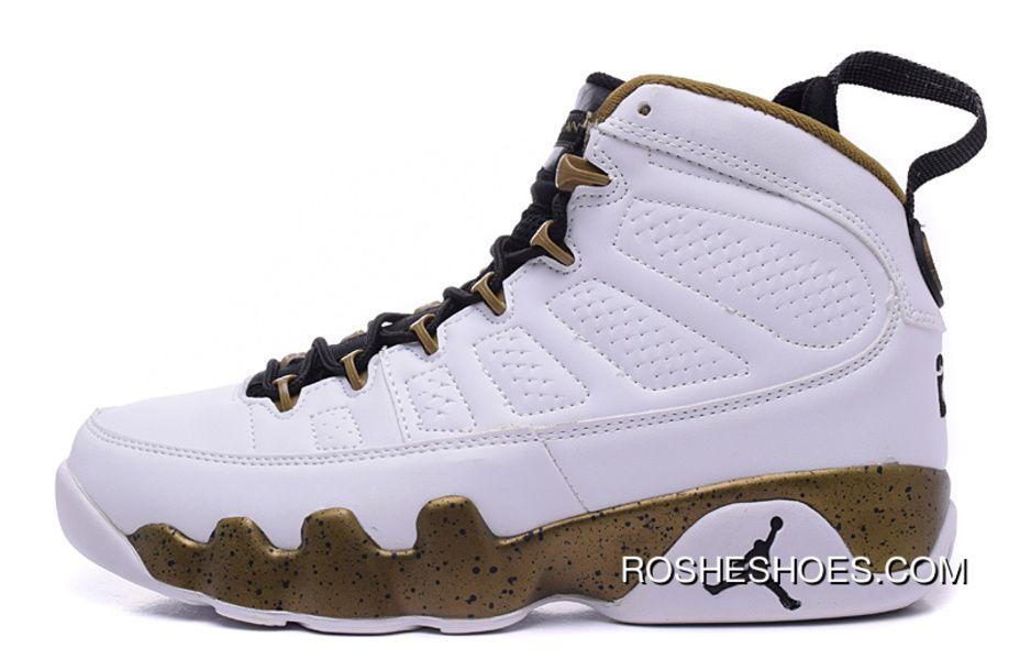 "brand new 2920a 9015c New Air Jordan 9 ""Copper Statue"" White Black-Militia Green Online"