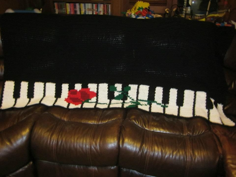 Crochet piano rose afghan-from a pattern. | Crochet by Me Stuff ...
