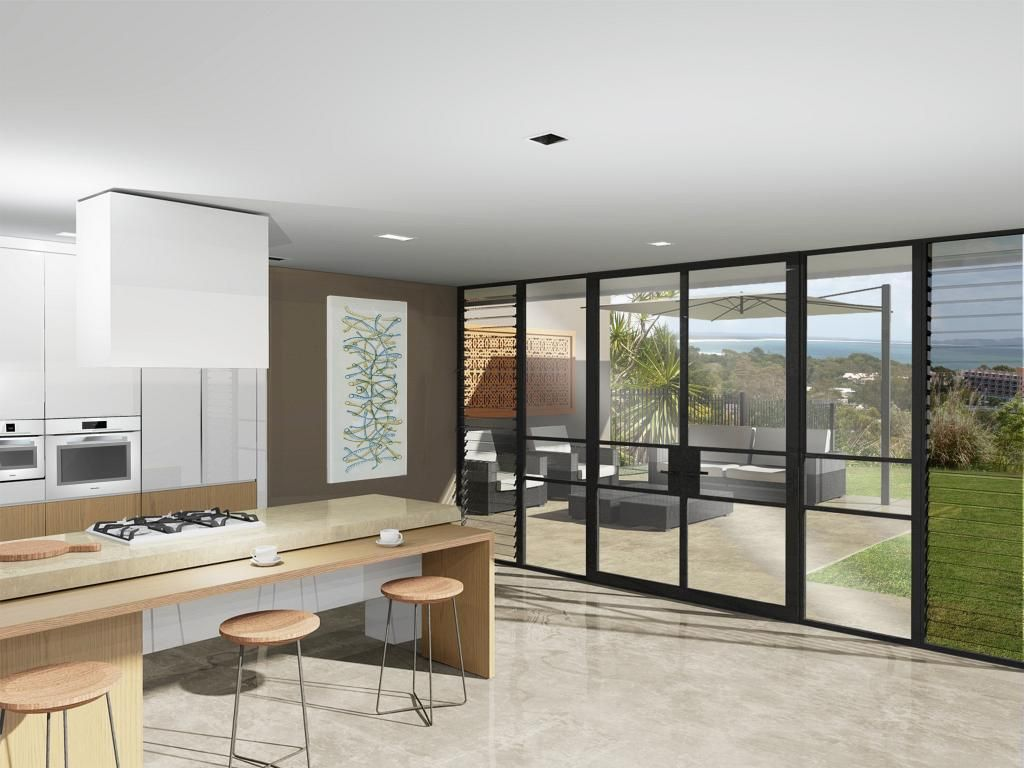 Steel framed double doors and windows with louvre side lights for a kitchen and family room located in Frankston South. & Steel framed double doors and windows with louvre side lights for a ...