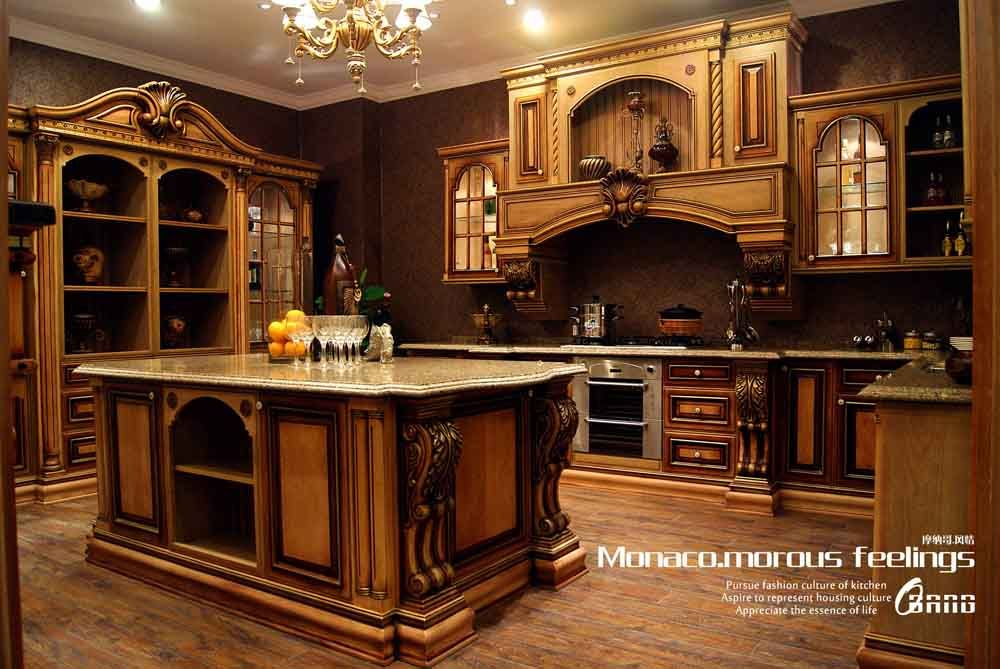 Hot Item High End Solid Wood Kitchen Cabinet Mf Kc14 Luxury