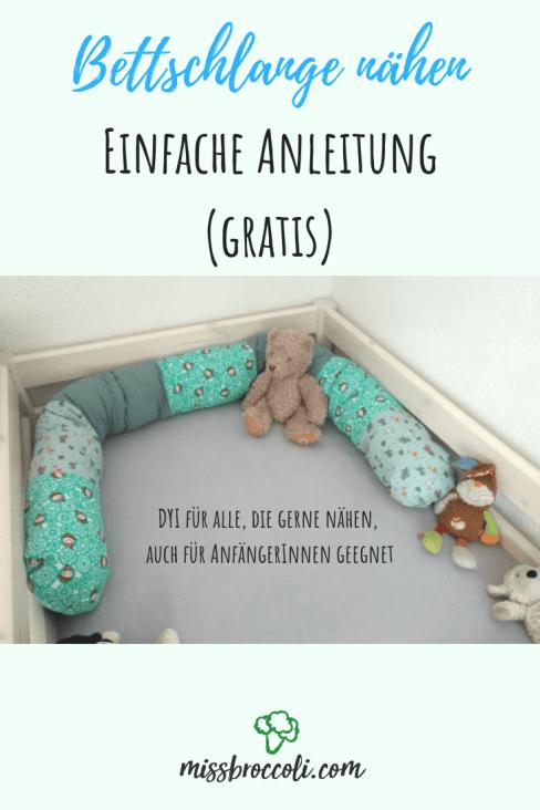 Photo of Bettschlange selber nähen – einfache DYI Anleitung (gratis) ⋆ Miss Broccoli