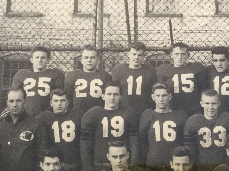 Antique vintage bw photo union city high school grand