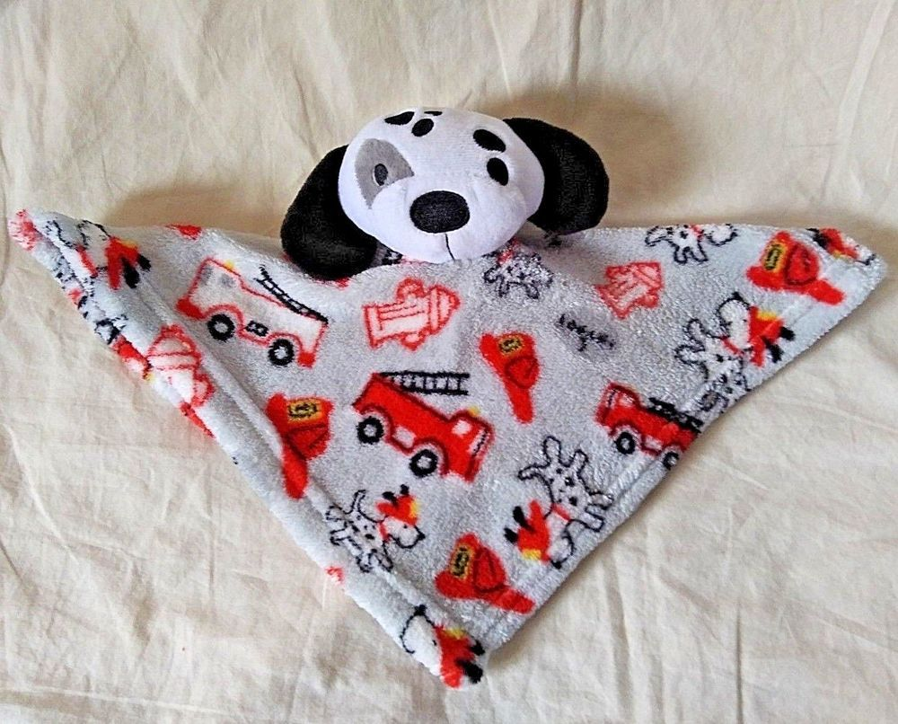 Swiggles Dalmatian Dog Puppy Lovey Security Blanket Firetruck Fire Hydrant NEW