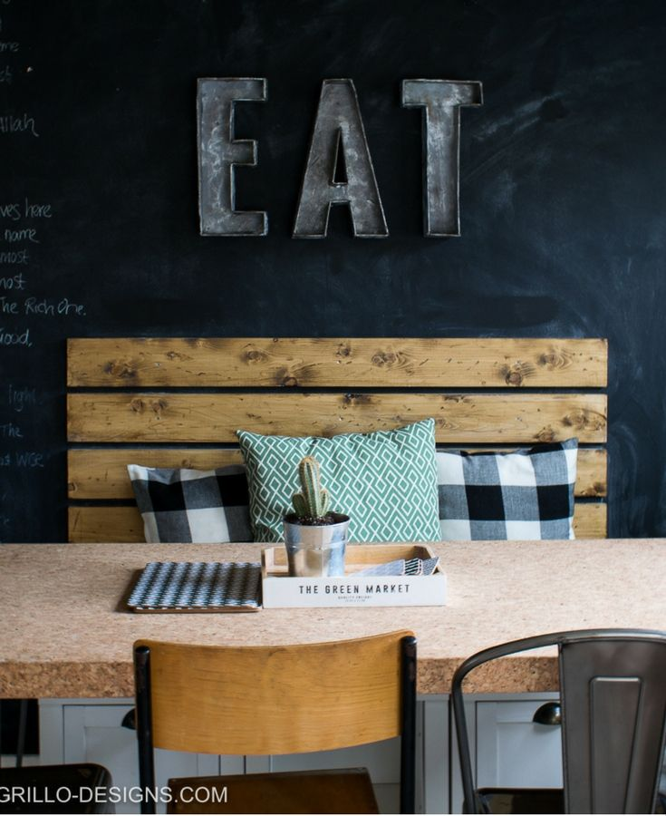 Chalkboard Wall In Dining Room!