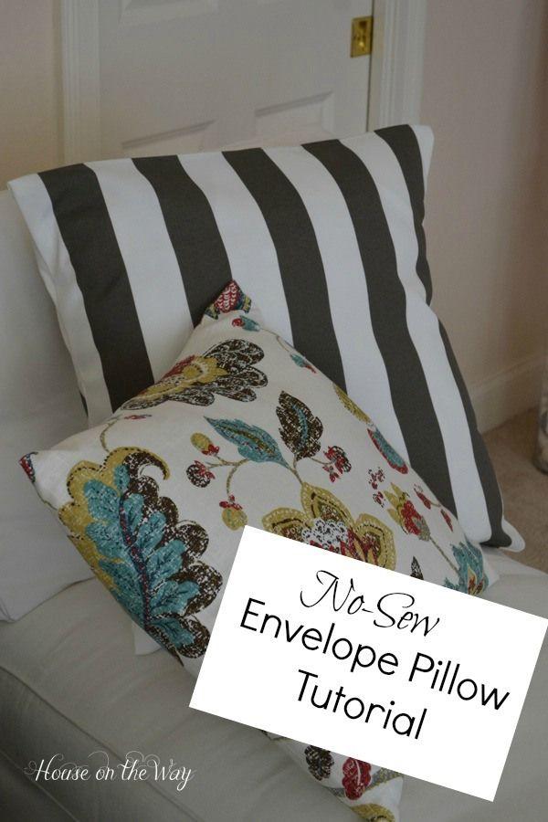 diy no sew envelope pillow tutorial envelopes and pillows. Black Bedroom Furniture Sets. Home Design Ideas