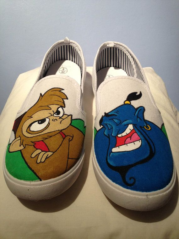 a0b3425813a Hand painted Disneys Aladdin shoes Made to by BlueRobotDesigns ...