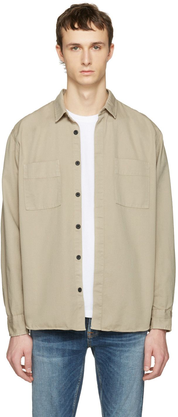a229a4fd NUDIE JEANS Taupe Calle Shirt. #nudiejeans #cloth #shirt | Nudie ...