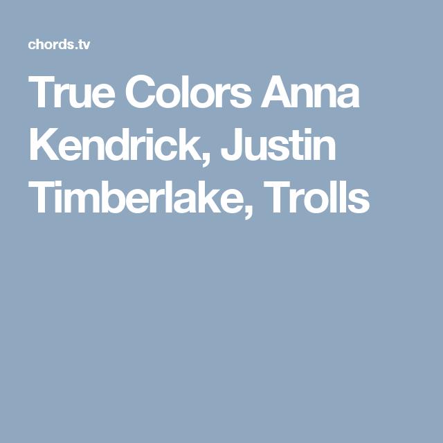 True Colors Anna Kendrick, Justin Timberlake, Trolls | Guitar ...