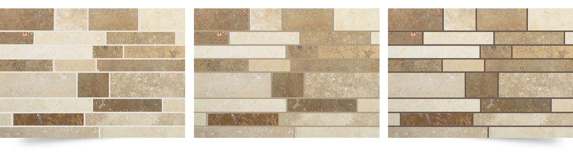 Travertine Subway Mix Backsplash Tile Ivory Beige Brown Tile