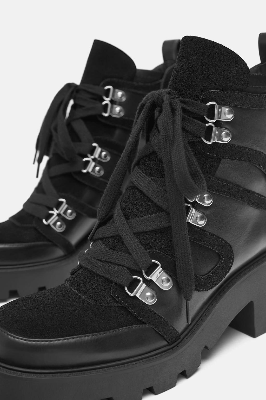 Zara Dan 5 Kalin Tabanli Bilekte Bot Resmi Bot Bayan Ayakkabi Cizmeler