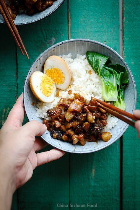 Lu Rou Fan-Braised Pork Rice | Recipe in 2020 | Braised ...