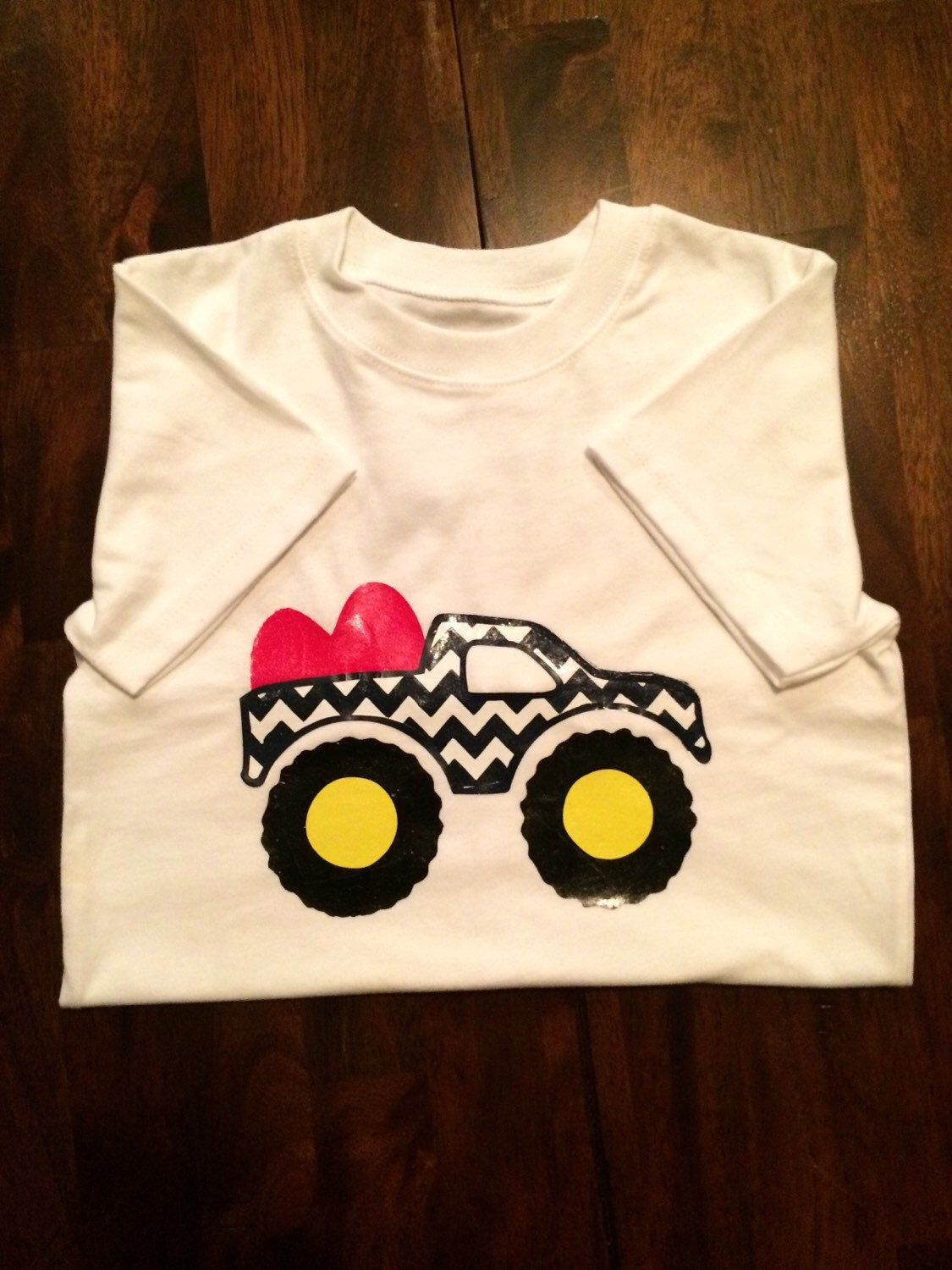 A personal favorite from my Etsy shop https://www.etsy.com/listing/264486335/valentine-truck-shirt-for-boys