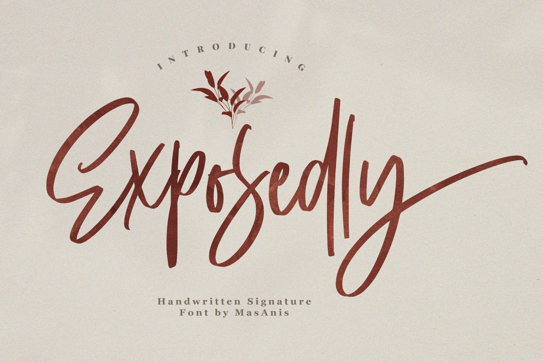 Exposedly // Signature Script in 2020 Signature fonts