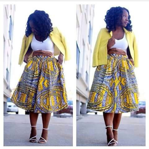 #African #Print #Skirt #Fashionista #Showstopper #Casual #Threads #Yellow