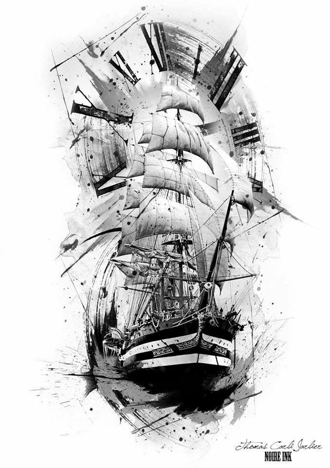 Pin By Filipe On Tattoos Nautical Tattoo Boat Tattoo Pirate Tattoo