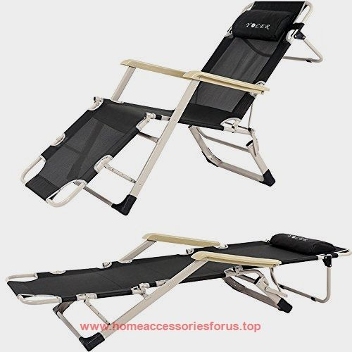 YOLER Zero Gravity Patio Lounge Chair U2013 Portable Folding Up Bed U2013 3  Adjustable Feet Position