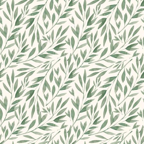 Green Bamboo Leaves Fabric Shopcabin Spoonflower Spoonflower