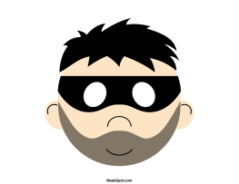 Robber Mask Templates Including A Coloring Page Version Of The Free Printable PDF At