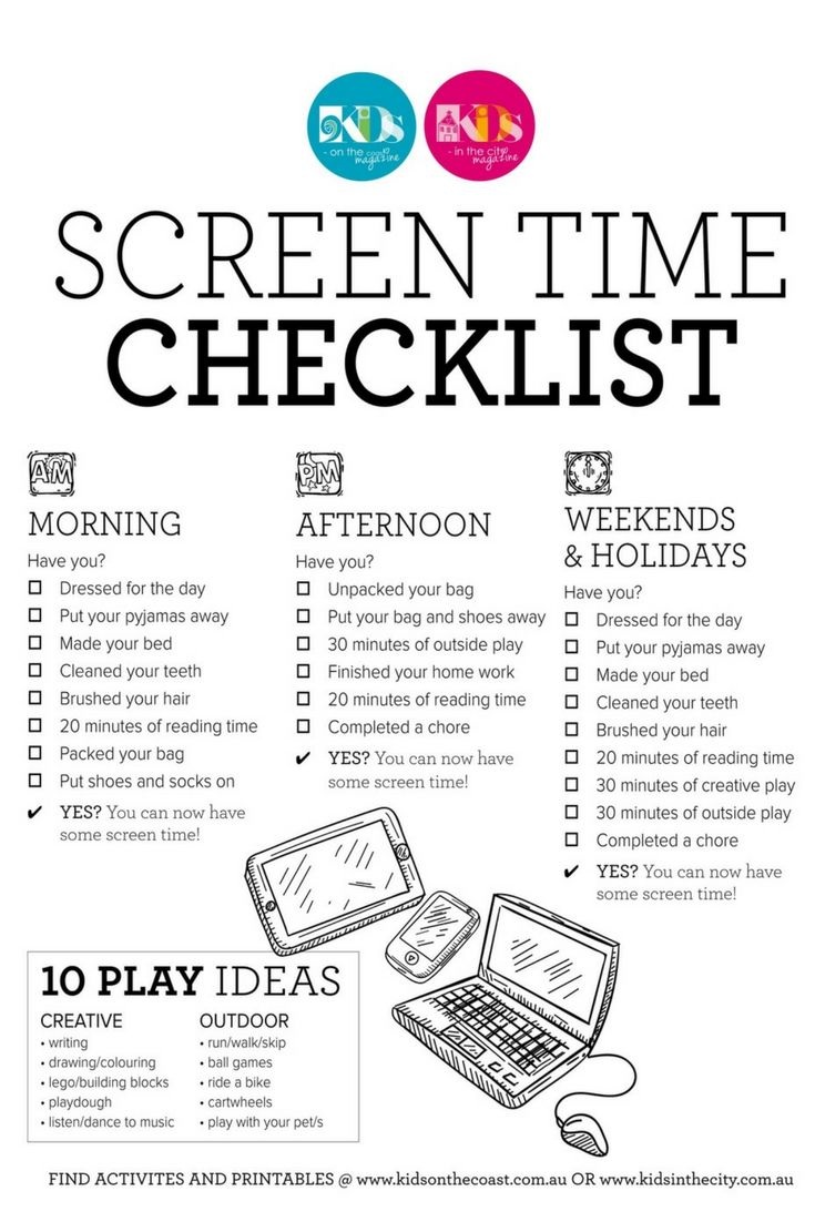 photograph about Screen Time Rules Printable named Are by yourself hunting towards preset some exhibit period recommendations in just your
