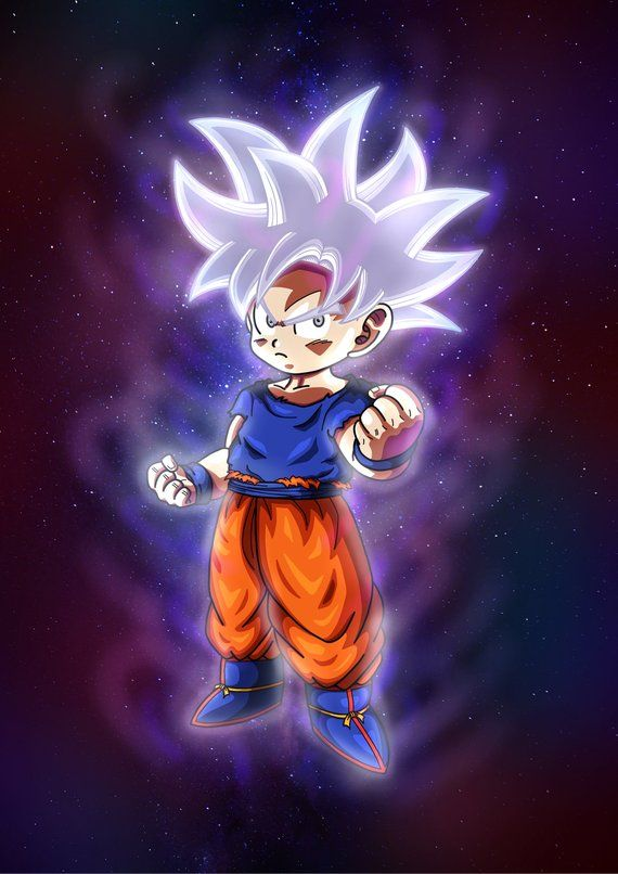 Goku Ultra Instinct Mastered Kid Version Prints Anime