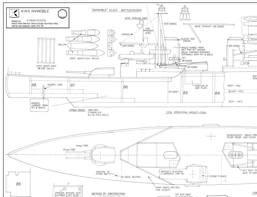 Hms Invincible Plan Sarik Hobbies For The Model Builder Model Boat Plans Model Boats Boat Plans