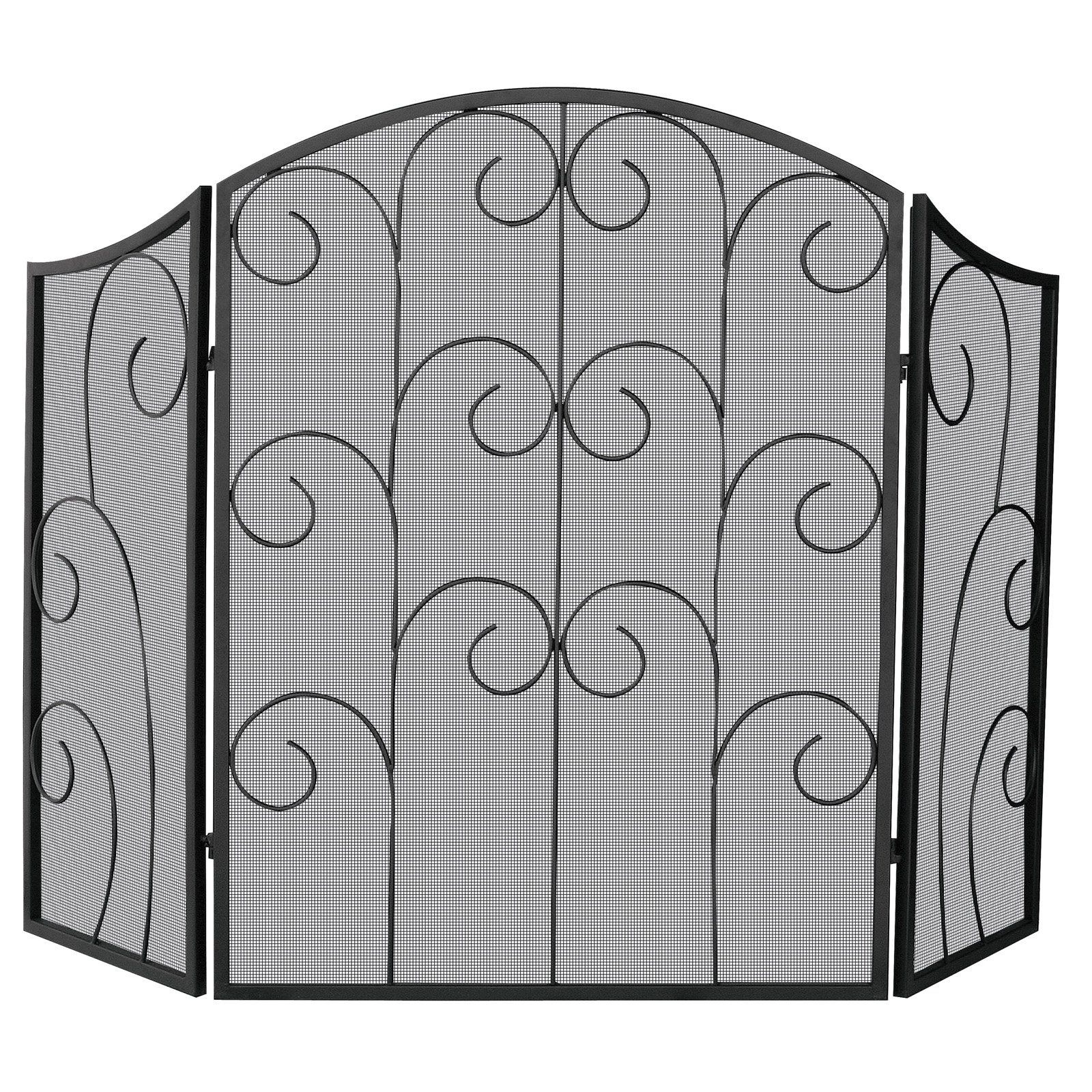 iron fireplace screens. Uniflame 3 Panel Alysace Wrought Iron Fireplace Screen $157.99 Screens