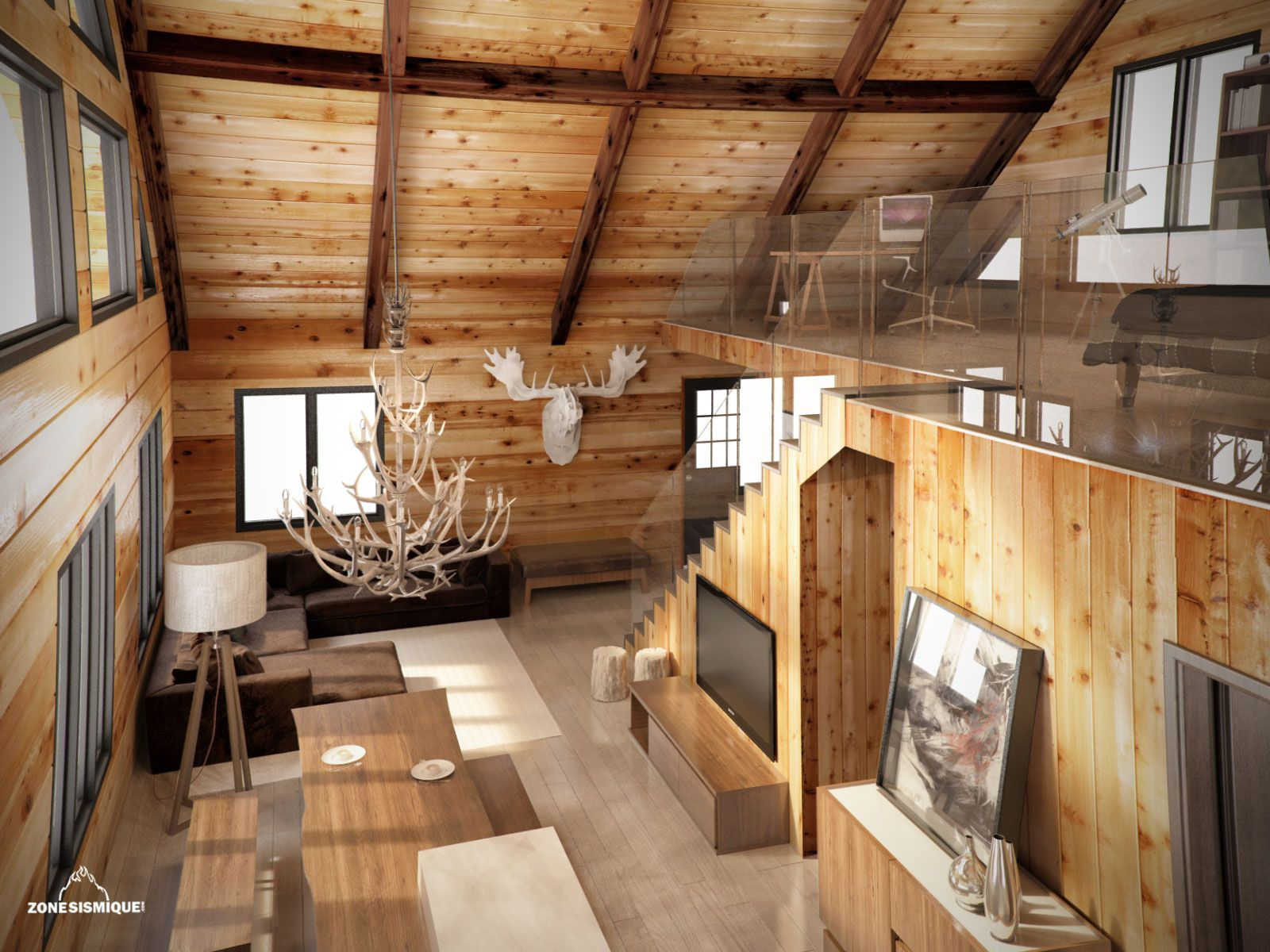 Interieur bois recherche google wood mood pinterest for Interieur chalet contemporain