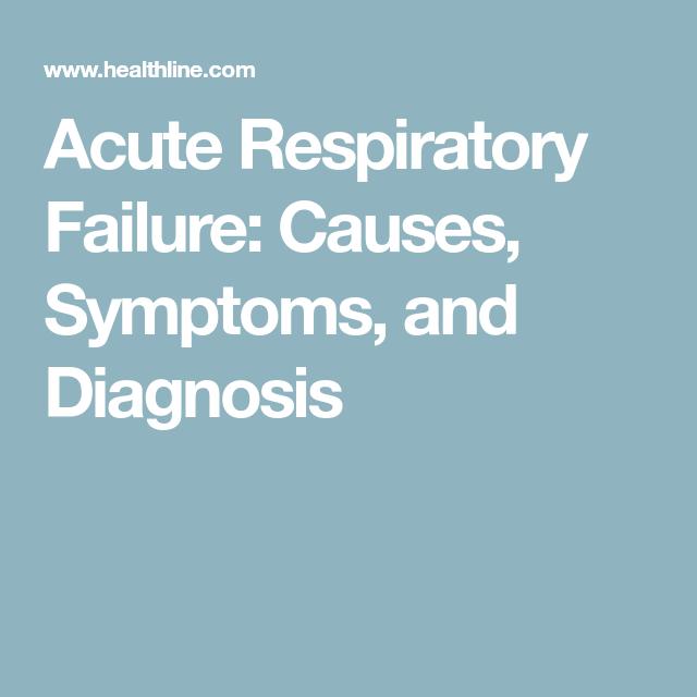 Acute Respiratory Failure: Causes, Symptoms, and Diagnosis ...