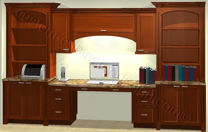 home office cabinets 3d presentation home office design