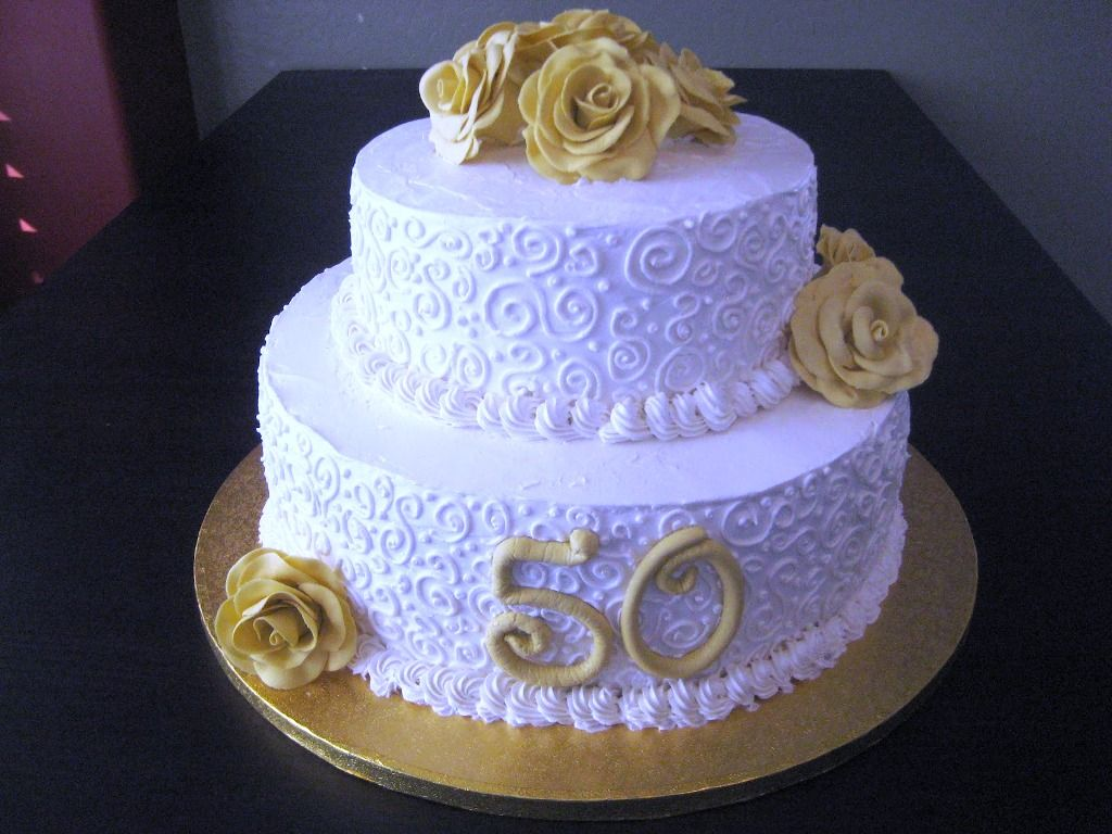 decorated 50th anniversary cakes