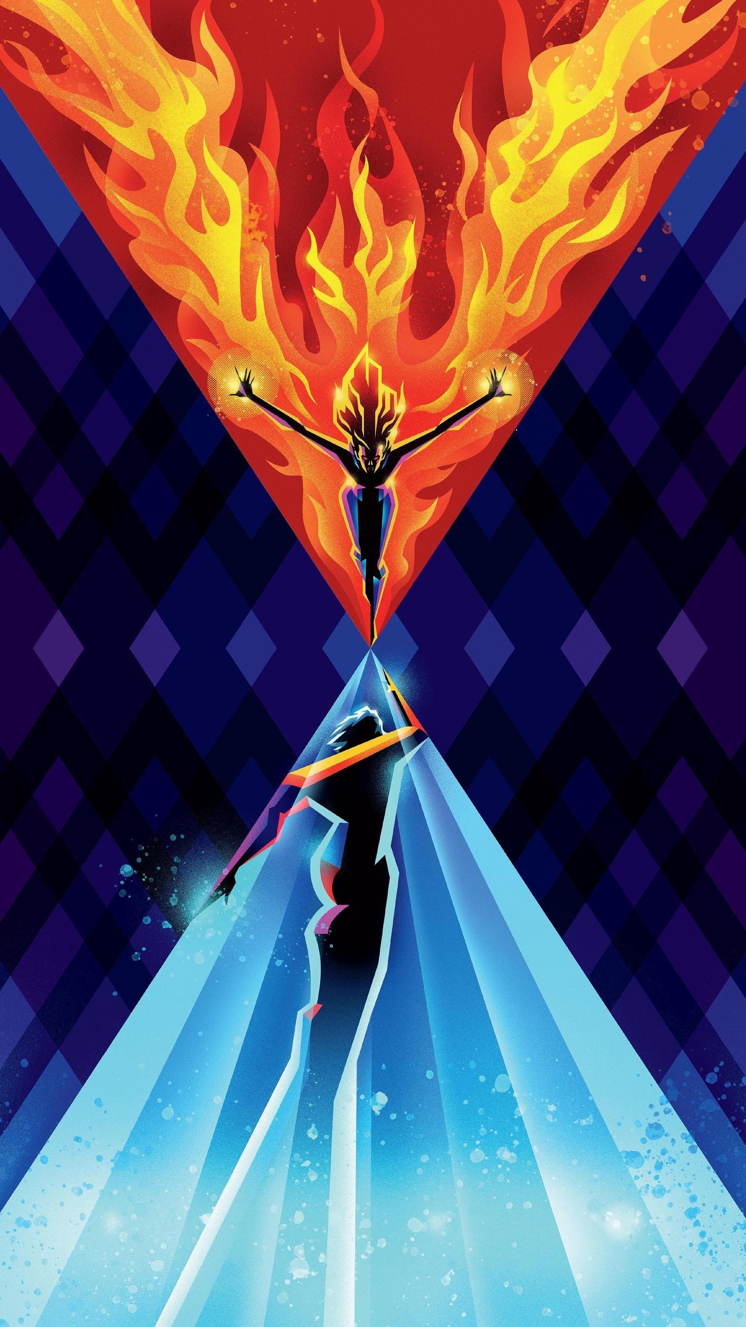 Dark Phoenix (2019) Phone Wallpaper Dark phoenix, Best