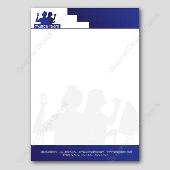 Entertainment media letter head design Graphic Design Stock - letter header format