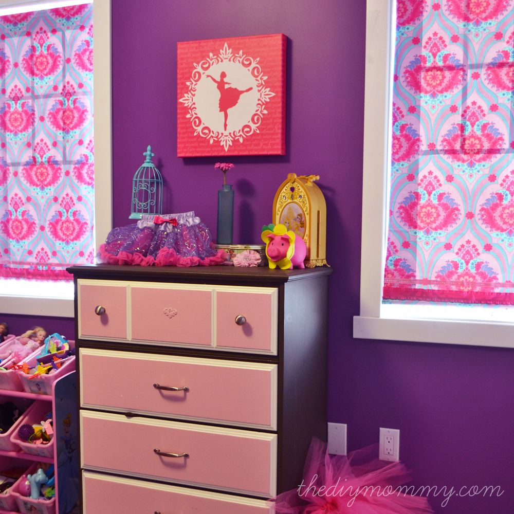 A Bright Jewel Toned Kid S Room In Purple Hot Pink And Turquoise The Diy Mommy